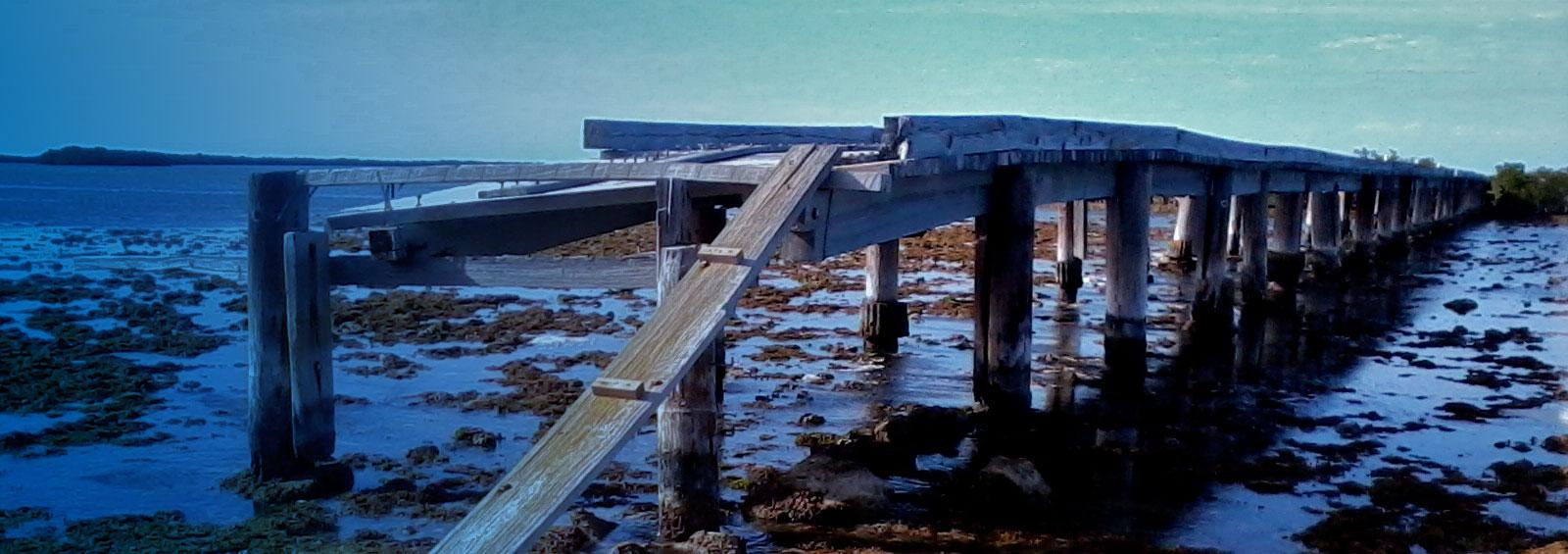 Delapidated bridge, Summerland Key